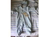Baby boys 6 months jacket , snowsuit and hat and mitts