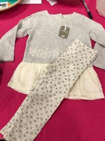 2 outfits and set of pjs size 18-24 months