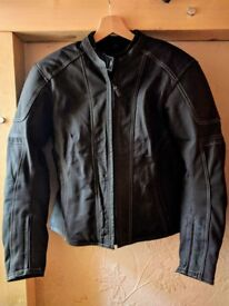 Ladies Frank Thomas motorcycle jacket and trousers, sizes 14 and 12