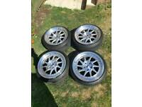 """JR26 5x120 bmw 18"""" staggered alloys with tyres 5 weeks old"""