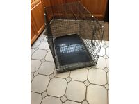 Dog crate large excellent condition