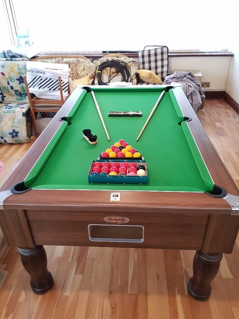 Full size professional pool table for sale white ball - Professional pool table size ...