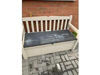 Keter garden bench storage box
