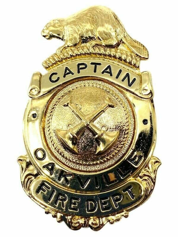Canadian Oakville Fire Department Captain Hat Badge