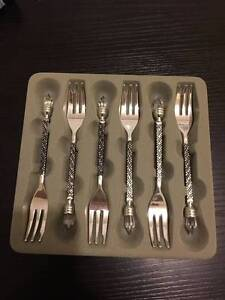 Dessert forks with crystal top Narwee Canterbury Area Preview