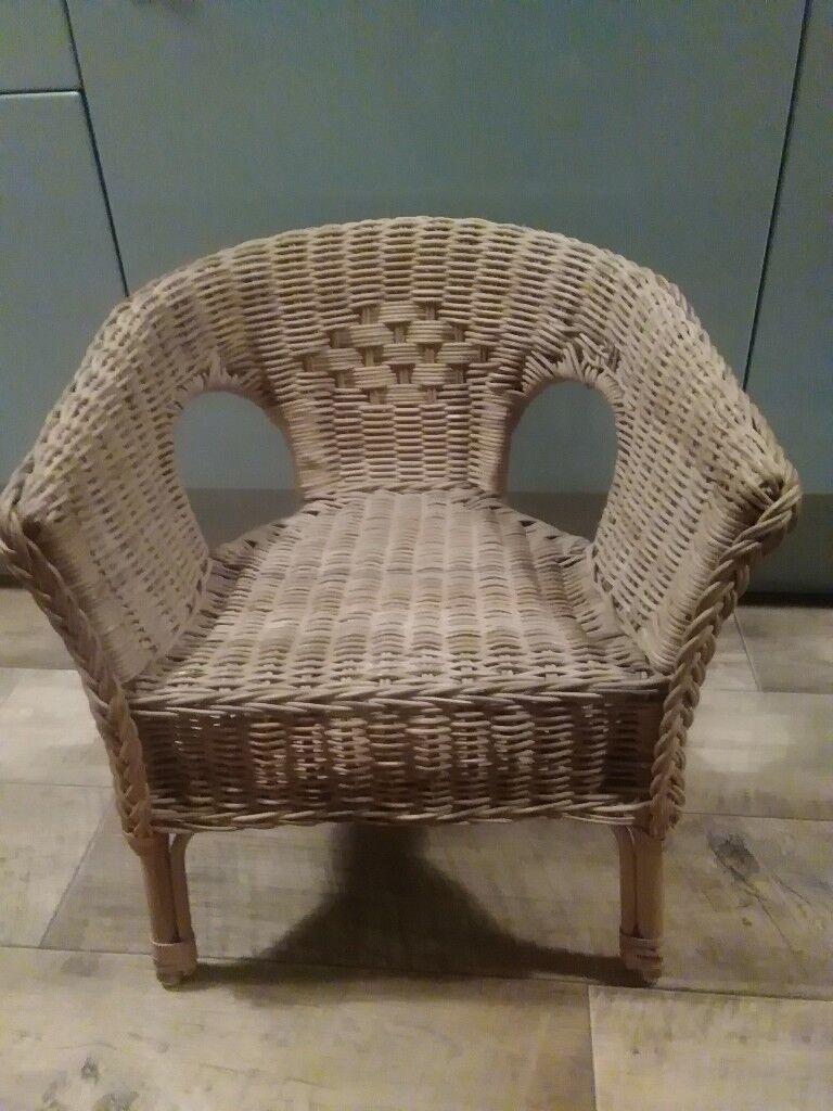 children's wicker chair