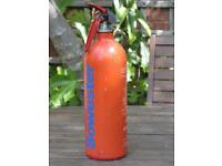 Fire extinguisher for boat or general use.