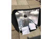 Photography large flash diffuser with mount