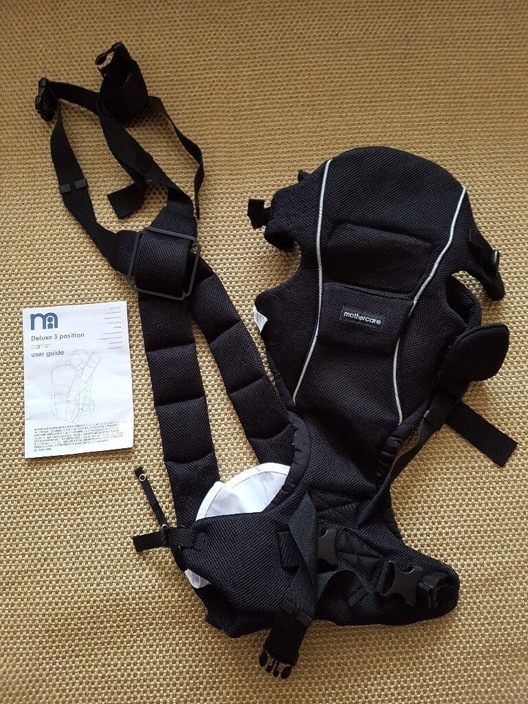 Mothercare deluxe 3 position baby carrier - black