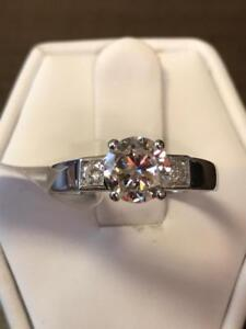 BIG 1.20TCW DIAMOND ENGAGEMENT RING 18K WG ON SALE NOW  50% OFF