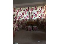 "Curtains & Covers - Dunelm tailor made lined 86"" Drop and each curtain is 4 widths= 2 x 90""W x 86""D"