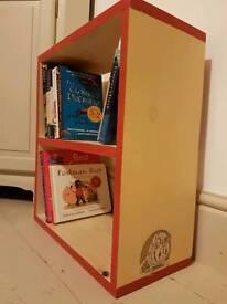 Handmade and hand painted freestanding shelf units