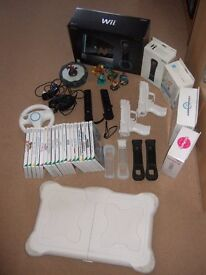 Wii console + 21 game bundle and accessories in excellent condition