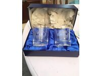 Fathers Day Gift - 2 Warrington Rugby League Engraved Glasses/Tumblers