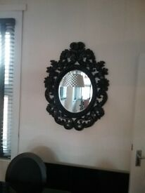 Large black boudouir Lawrence Lewelyn Bowen ornate mirror