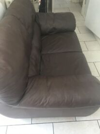 Brown Letherette Sofa