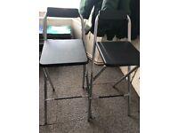 2x Folding bar stool