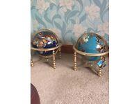 Gem stone globes