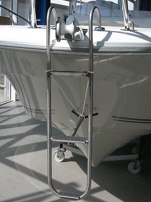 Bugleiter - Edelstahl mit flachen Trittflächen 210 x 880 mm