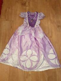 GIRLS DISNEY SOFIA THE FIRST FANCY DRESS COSTUME AGE 7-8 YEARS