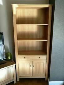 Next Stafford oak effect bookcase cupboard