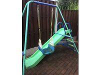 Children's swing and slide