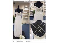 Lovely cream wedding/prom dress. Size 8 (Pearce fiona)