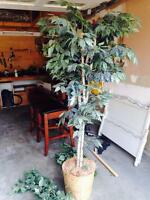 Large indoor artificial plant with base