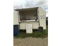 A CATERING DONUT TRAILER COMPLETE WITH BOILER FRYER ,HOPPER +ALL OTHER EQUIPMENT SPOT ON CAR BOOT