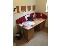 Quality large desk with boards