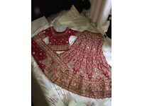 Asian wedding dress, perfect conditio, dry cleaned,beautiful embroidery size 8-10