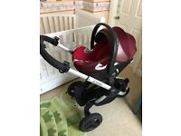 Icandy peach all terrain puschair with cybex carseat and isofix base