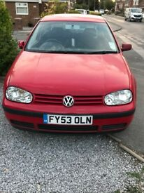 VW Golf 2003 1.4 match 3 dr petrol only 92,000 miles