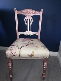Rose Gold Newly Upholstered Dressing Table Chair Matching Items Available