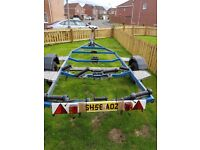 boat trailer braked for up to 20 foot boat