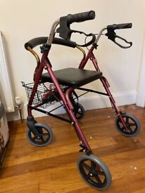 4 wheeled Walker with seat