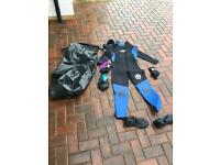 Large Jag Wetsuit, waterproof bag and accessories