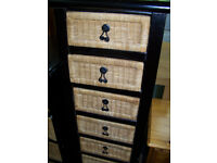 Tallboy Chest of Drawers with Baskets