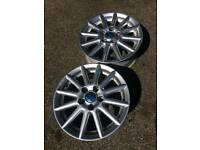 14'' Volkswagen BBS Golf alloy wheels x 2 without tyres 5x100 PCD