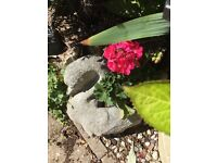 Lovely vintage stone swan planter which would grace any garden