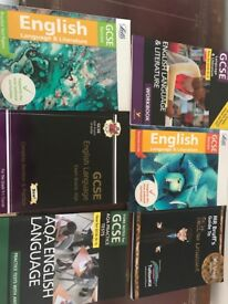 6 used GCSE English 9-1 revision books only £7 (worth 38)