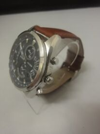 Mens Accurist model no MS785N Stainless Steel Chronograph watch PRE WORN