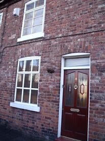 Cottage style terraced House in Cheadle village for Professional Single or Couple available 1st Dec