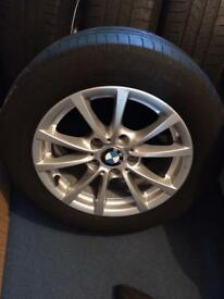 Bmw 3 series wheels 16inch wheels. All good. Tyres. Unmarked alloys.