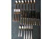 Vintage Viners silver plated cutlery