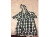 Next check shirt with hoodie medium