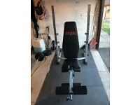 York Fitness 540 Heavy Duty Folding Barbell Bench & Squat Rack - REDUCED