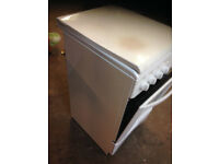 gas cooker white hob oven Parkinson cowan