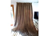 Beautiful Laura Ashley Velvet Curtains. Triple pleat, Interlined. Huge size 300 x 275 cm Ex display