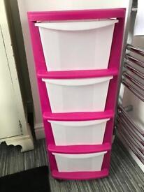 Pink plastic draw set